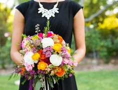 Colorful Bouquet via Katrina Jayne and Inspired By This.