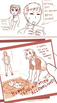 "Haha X). And Winry is just standing in the background like *shakes head and sighs* ""I highly disapprove."""