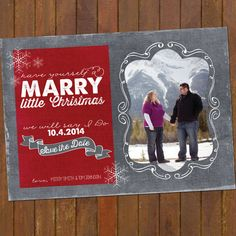 Christmas Wedding Save the Date Cards  combine by gwenmariedesigns, $15.00