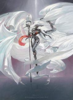 Platinum Angel by VictorAdameArt