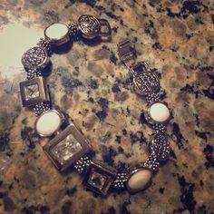 Lia Sophia bracelet Silver & white Lia Sophia bracelet. Lia Sophia Jewelry Bracelets