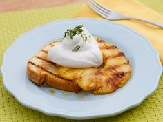 Grilled Pound Cake with Tequila-Soaked Pineapple Recipe : Marcela Valladolid : Food Network - FoodNetwork.com