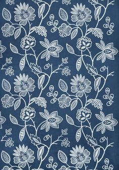 Brunello Embroidery #print #fabric in #navy from the Anna French Symphony…