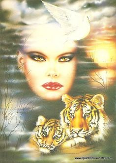 Fantastic 80s Vintage Airbrush Postcard - Blow a wish in 80's style. $3.50, via Etsy.