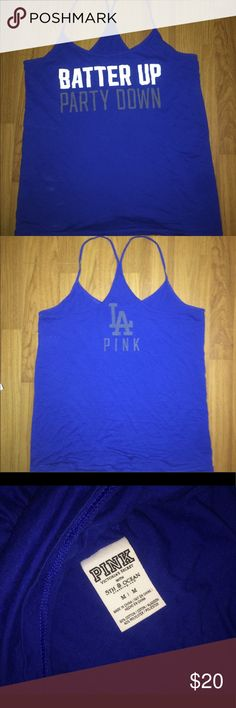 Victoria secret pink racer back shirt LA - Victoria secret pink racer back shirt. Size M PINK Victoria's Secret Tops Blouses