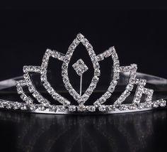$3.97 Fashion Irregular Shape Shiny Rhinestone Girl Wedding Prom Tiara Crown Headband