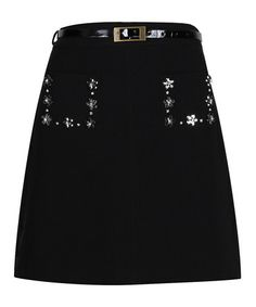 Look what I found on #zulily! Black Naomi A-Line Skirt by Darling #zulilyfinds