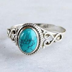 These beautifulVintage Design Silver Turquoise Rings feature beautiful stone setting mounted on gorgeous sterling silver!***Arrives between Dec 16 and Dec 22* #SterlingSilverTurquoise