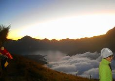Sunrise at Mount Rinjani Lombok Indonesia