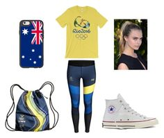 """Olymics Themed"" by tiaaarnaxo ❤ liked on Polyvore featuring Casetify, Converse, men's fashion and menswear"
