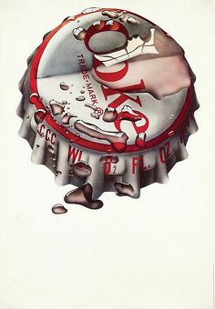Poster by Michael English - Coke Trade-Mark - by Van Sabben Auctions