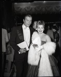 Lana Turner Lex Barker Mogambo Premiere 1953