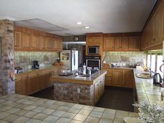 Kitchen with a scullery