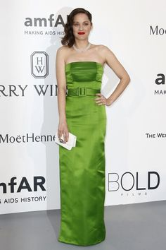 Marion Cotillard switched up her usual Dior for a Jean Paul Gaultier couture dress for the amfAR gala in Cannes. Photo: Ian Langsdon/European Pressphoto Agency