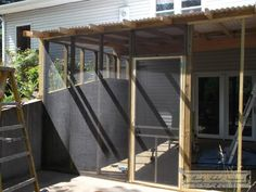 A New Room to Enjoy: Building the Screened-in Porch – Slowly Faded Treasures Screened In Porch Diy, Screened Porch Designs, Porch Swing, Diy Screen Porch, Screen House, Porch Roof, Diy Porch, Front Porches, Porch Kits