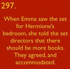 Harry Potter facts - Emma knows her stuff
