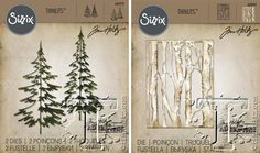 New Tim Holtz dies for the up coming holidays, sneak peek from his blog. Loving the trees.