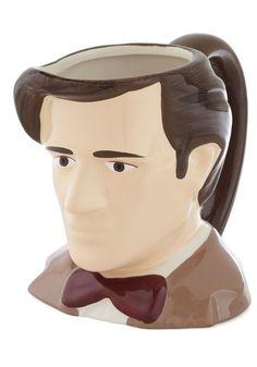 He Goes to Eleven Mug, #ModCloth - Matt Smith head mug!