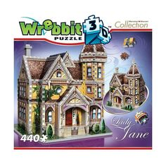 Wrebbit 440-pc. Mansion Collection Lady Jane 3D Puzzle, Multicolor
