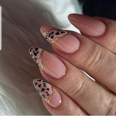 Leopard Nails, Pink Nails, Gel Nails, Nail Polish, Shellac, Manicures, Coffin Nails, Minimalist Nails, Gorgeous Nails