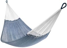 "Seersucker Navy Hammock | Yellow Leaf ""Vineyard Haven"" Double Hammock"