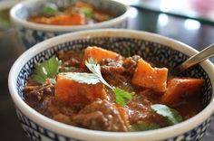 Slow-cooked beef and sweet potato curry