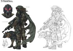 ArtStation - Scout sniper, Titanfall fanart, Woo Kim
