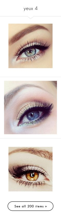 """yeux 4"" by floriane97 ❤ liked on Polyvore featuring beauty products, makeup, eye makeup, eyes, beauty, eye make up, palette makeup, eyeshadow, cosmetics and mineral powder makeup"