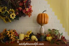Colorful Autumn Mantel Decor