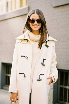 ivory toggle coat