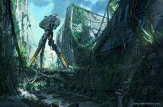 Concept Art Writing Prompt: Exploring the Ruins of the Future
