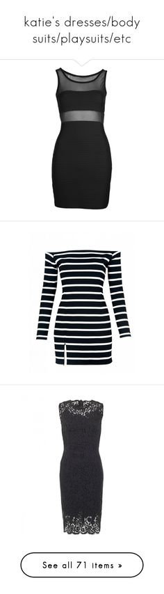 """""""katie's dresses/body suits/playsuits/etc"""" by takemehome1234 ❤ liked on Polyvore featuring dresses, bodycon dress, going out dresses, body conscious dress, bodycon cocktail dress, bodycon party dresses, vestidos, multi, off the shoulder dress and blue striped dress"""