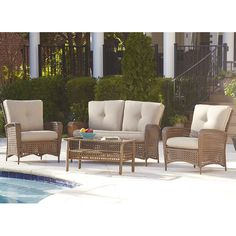 Found it at Wayfair - Marathon Conversation 4 Piece Seating Group with Cushions
