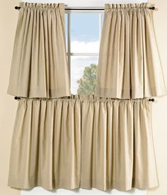 Weavers Cloth Tier Curtains Available In Blue Country