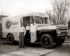 "Bordens Dairy Milk Truck, 1958.   While this photo is a bit before my time, I can still remember ""George, the Milkman,"" who made deliveries to our house every Saturday morning until about 1970."
