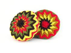 Colorful Crocheted Pillows / Set of 2 Handmade by ChapsAndRascal
