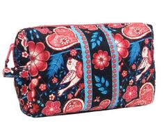"Free Bird Cosmetic Bag Freebird. $12.99. Wide trim and durable plastic liner. Dimensions: L10"" x W6 1/4"" x D3 1/4"". Quilted product 100% Cotton. Roomy design with grab and go side loop. Very Attractive design"