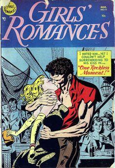 Girls' Romances #13 (Mar '52) cover by the legendary Alex Toth. #comics #romance