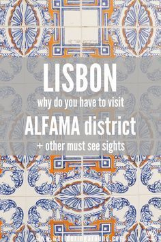 Why do you have to visit one of the Lisbon's must sees - historic Alfama district? What to not to miss from sightseeing in Lisbon when travelling in Portugal? Where you can eat pastel de nata with a view and what are miradouros? Discover what to visit in Europe Travel Tips, Spain Travel, European Travel, Travel Guides, Travel Destinations, Algarve, Visit Portugal, Spain And Portugal, Portugal Travel Guide