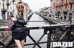 Black Leather Jacket Fashion of Kim Yubin