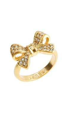 Gold Pave Bow Ring დ