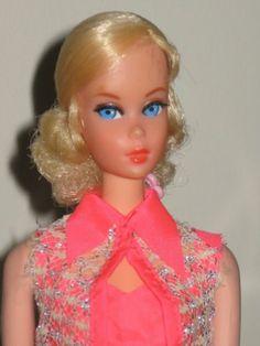 1969 Talking Blonde Barbie Mute with Original Body Swimsuit 1115 Great Hair | eBay