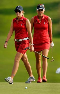 Paula Creamer and Lexi Thompson, Solheim Cup Day 2 partners, August 17, 2013