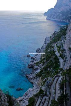 Winding Blue Capri Fine Art Photography