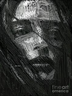 Studio Portrait In Pencil 38 Digital Art by Rafael Salazar