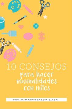 10 consejos para hacer manualidades con ninos Book Libros, Clothespins, Montessori, Books, Crafts, Play, Easy Crafts, Crafts To Make, Activity Books