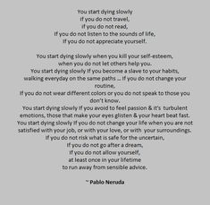 Image result for pablo neruda you start dying slowly