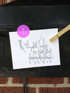 Calligraphy Envelopes - Elizabeth Sample. $1.00, via Etsy.