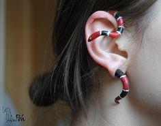 Snake fake plug and ear cuff