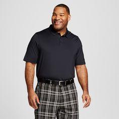 Men's Big & Tall Golf Polo Ebony XL - Tall - C9 Champion, Size: XL Tall